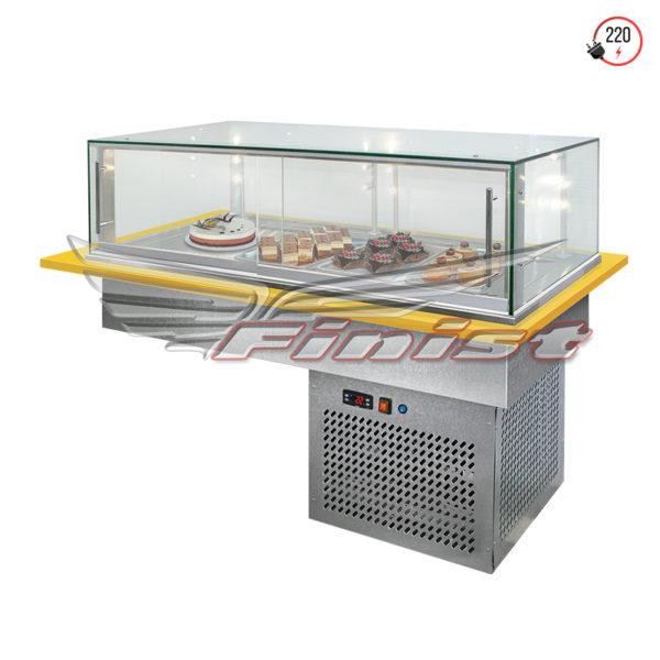 Встраиваемые горизонтальные кондитерские витрины Glassier 58 купить в Уфе
