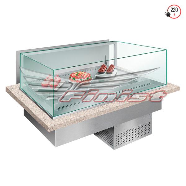 Встраиваемые горизонтальные кондитерские витрины Glassier SLIDE купить в Уфе